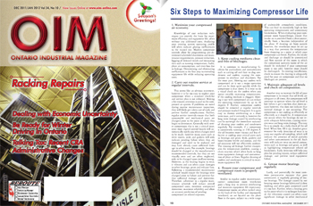 Ontario Industrial Magazine - 6 ways to extend compressor life